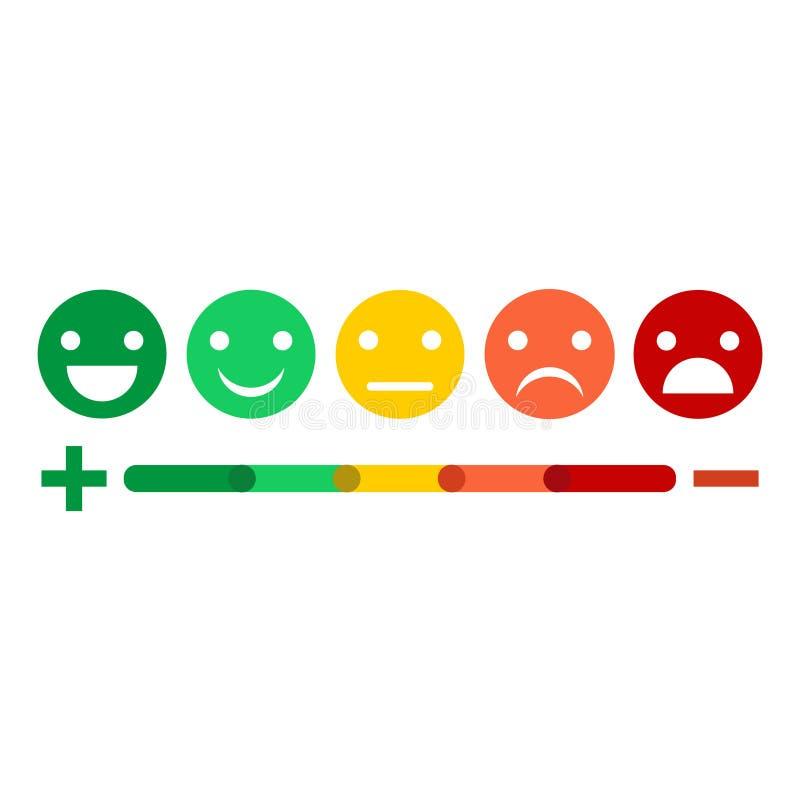 Sistema plano del icono del diseño del emoticon de la reacción del ejemplo stock de ilustración