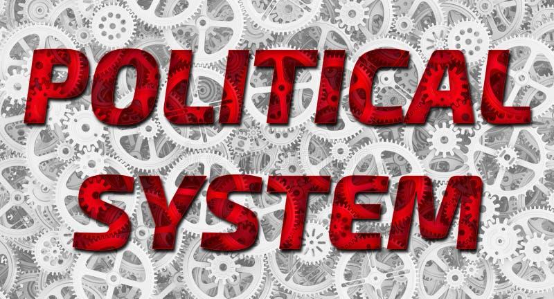 Sistema político ilustración del vector