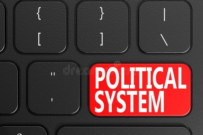 Sistema político en el teclado negro ilustración del vector