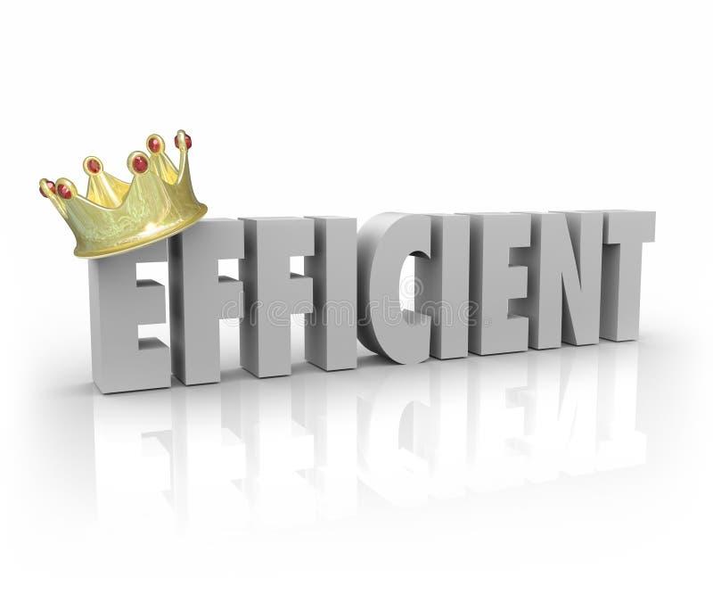 Sistema productivo eficaz RRPP del ejecutante de la palabra eficiente de la corona 3d libre illustration