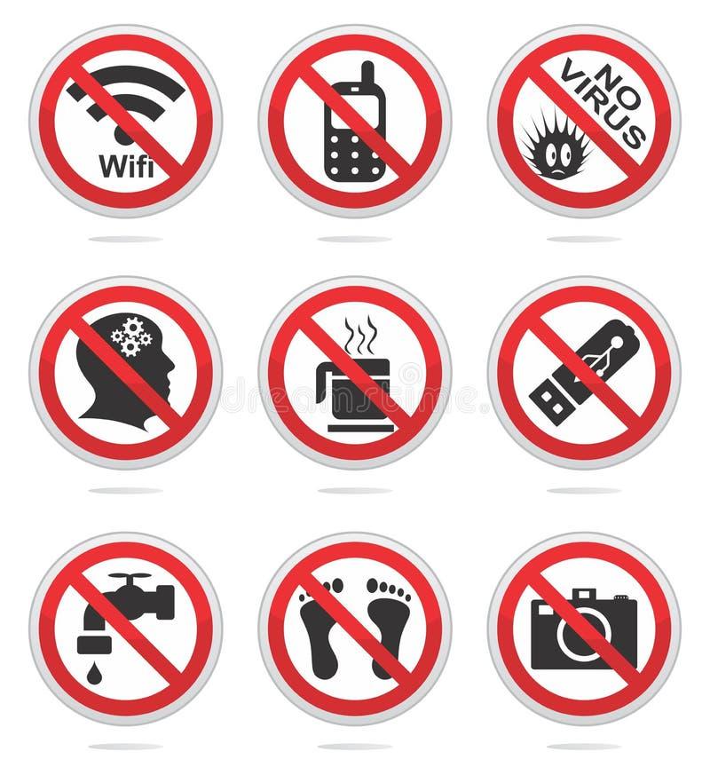 Sistema Prohibido Del Icono Fotografía de archivo