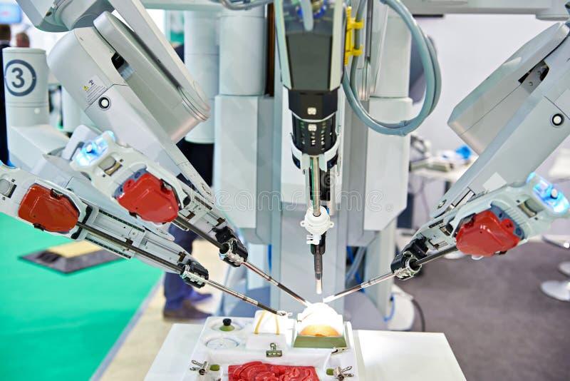 Sistema quirúrgico robótico foto de archivo libre de regalías