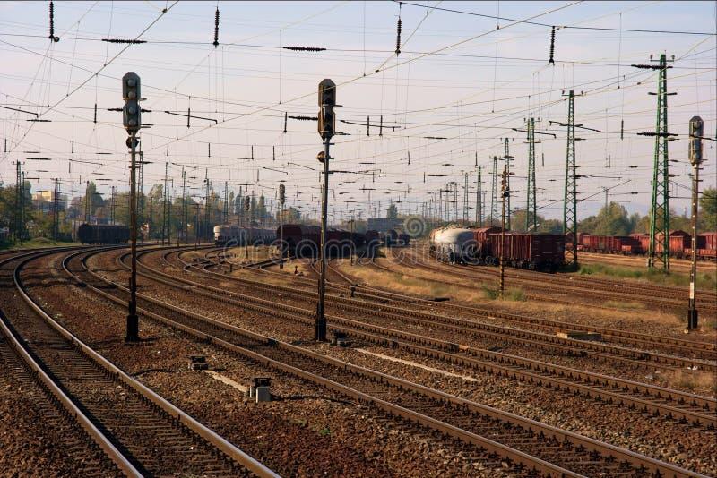 Sistema Railway imagens de stock