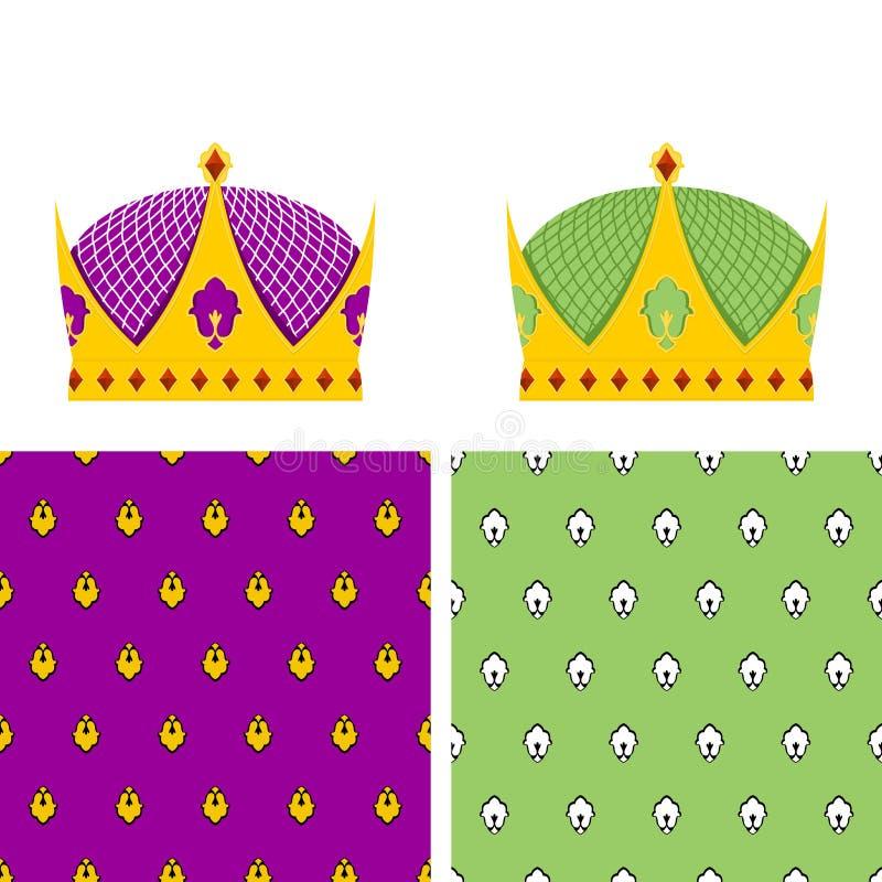 Sistema real: modelo inconsútil para la capa y una corona de oro para Ki libre illustration