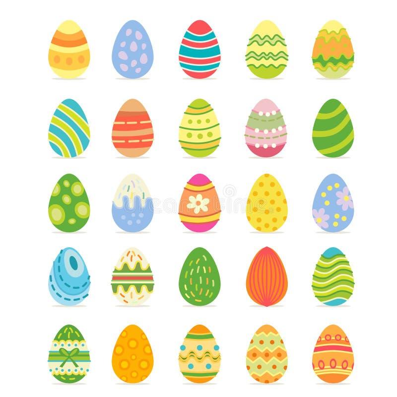 Sistema realista del huevo de Pascua Caza domingo del huevo libre illustration