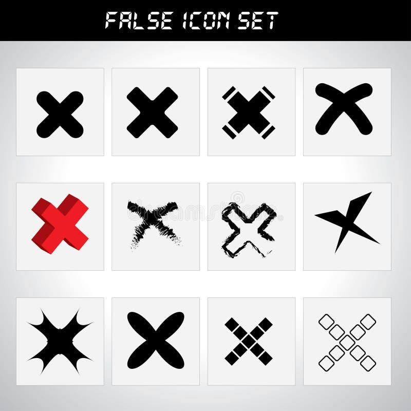 Sistema rechazado del icono ilustración del vector