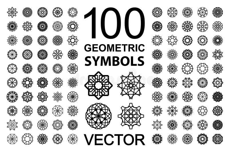 Sistema redondo del ornamento ilustración del vector