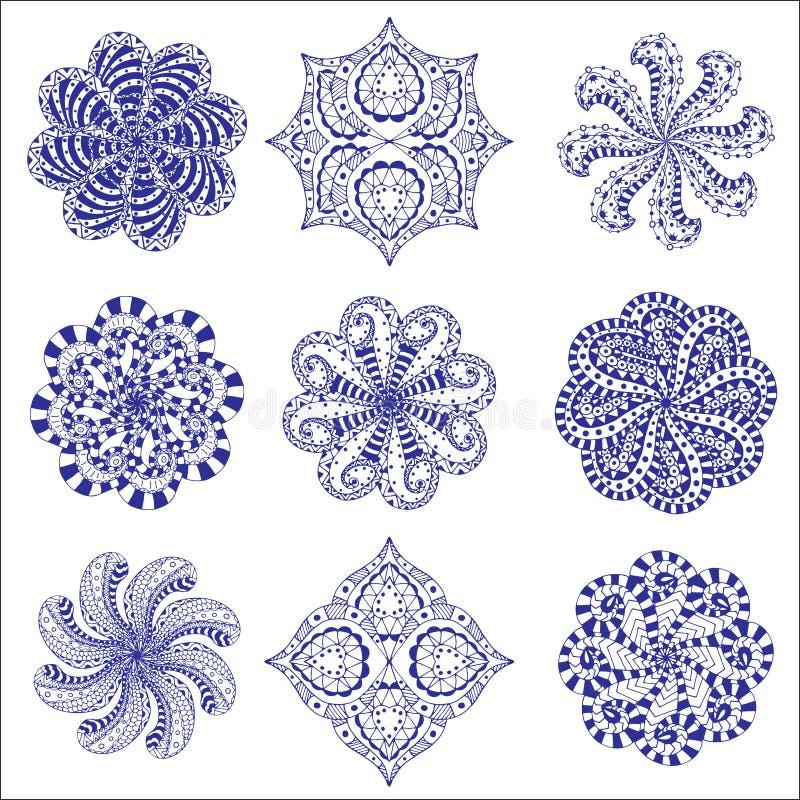 Sistema redondo del ornamento libre illustration