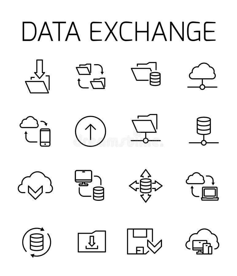 Sistema relacionado de intercambio de datos del icono del vector ilustración del vector