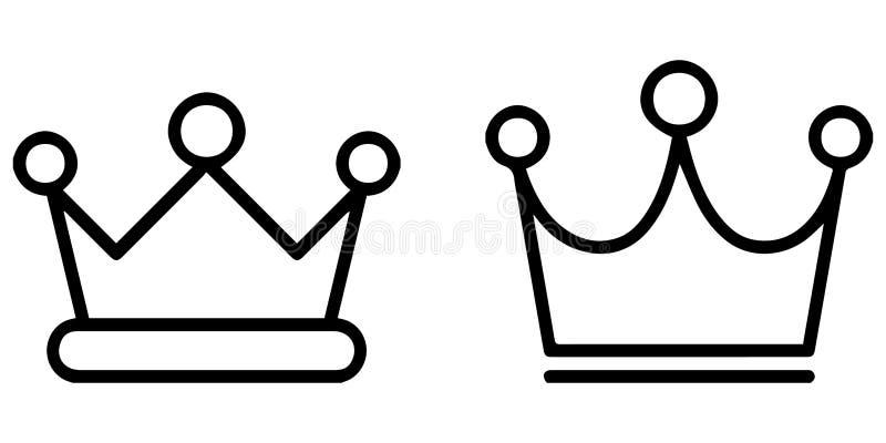 Sistema resumido del icono: Coronas reales stock de ilustración