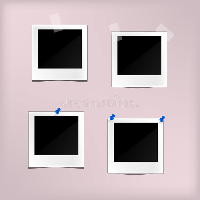 Sistema retro clásico del estilo del bastidor de la foto de la plantilla del vector libre illustration