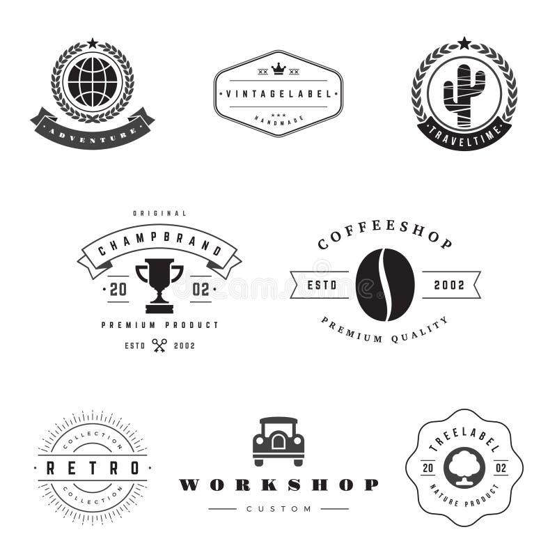 Sistema retro del vector de los logotipos libre illustration