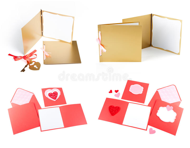 Sistema romántico del diseño Para ser utilizado para las postales, invitaciones, tarjeta imagen de archivo libre de regalías