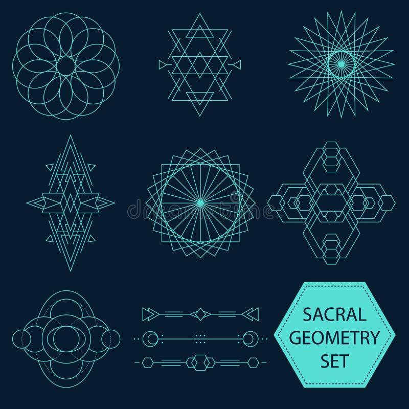 Sistema sacro del vector de la geometría libre illustration