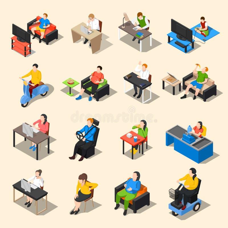 Sistema sedentario del icono de la vida libre illustration