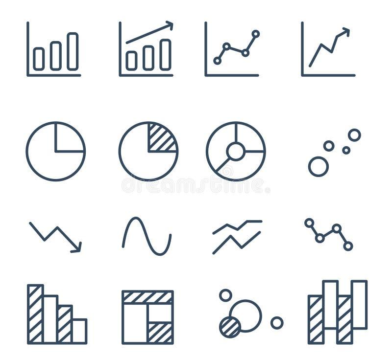Sistema simple de diagrama y de gráficos libre illustration