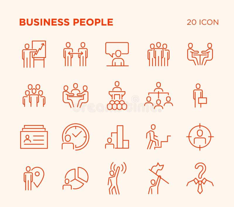Sistema simple de gente de negocio stock de ilustración