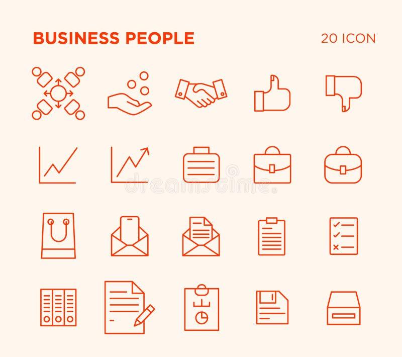 Sistema simple de gente de negocio fotografía de archivo