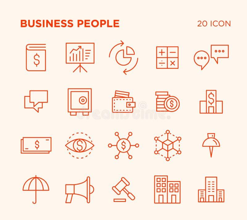 Sistema simple de gente de negocio ilustración del vector