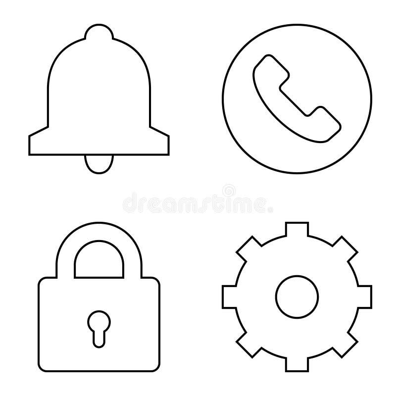 Sistema simple de la l?nea fina iconos del vector libre illustration