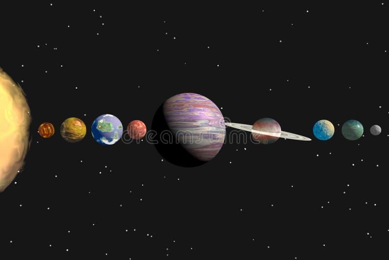 Sistema solar ilustração do vetor