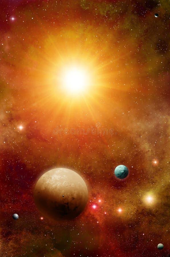 Sistema solar de Exoplanets ilustração royalty free