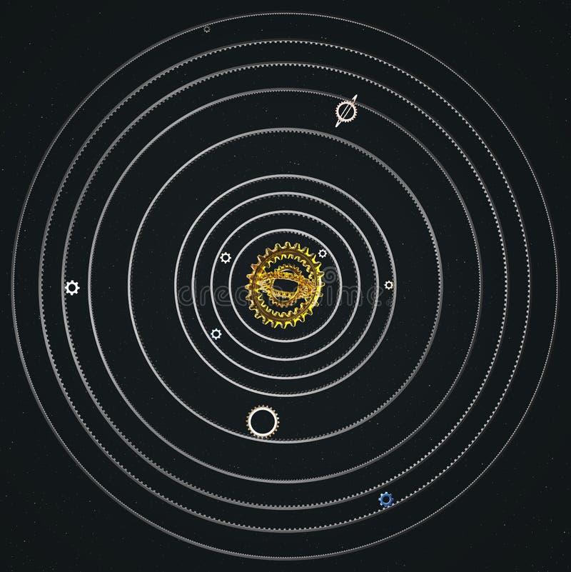 Download Sistema Solar De La Rueda Dentada Stock de ilustración - Ilustración de círculo, industrial: 64206262