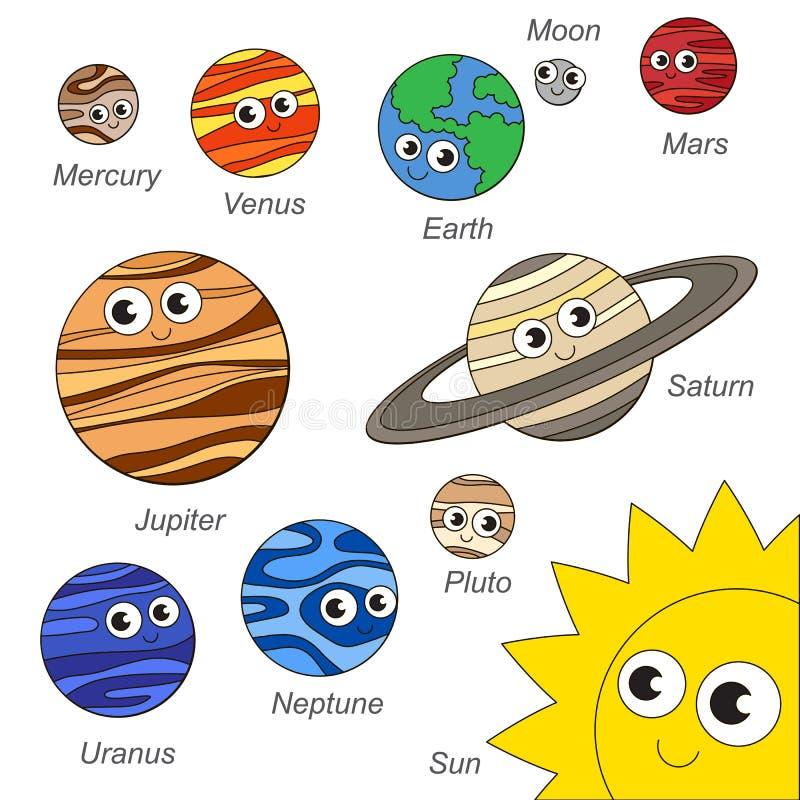 Sistema Solar Lindo Del Planeta De Sistem, La Colección De Plantilla ...
