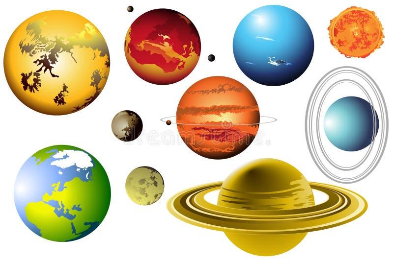 Sistema solare immagini stock libere da diritti