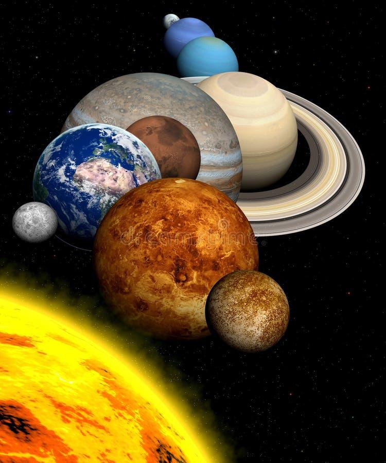 Sistema solare illustrazione di stock