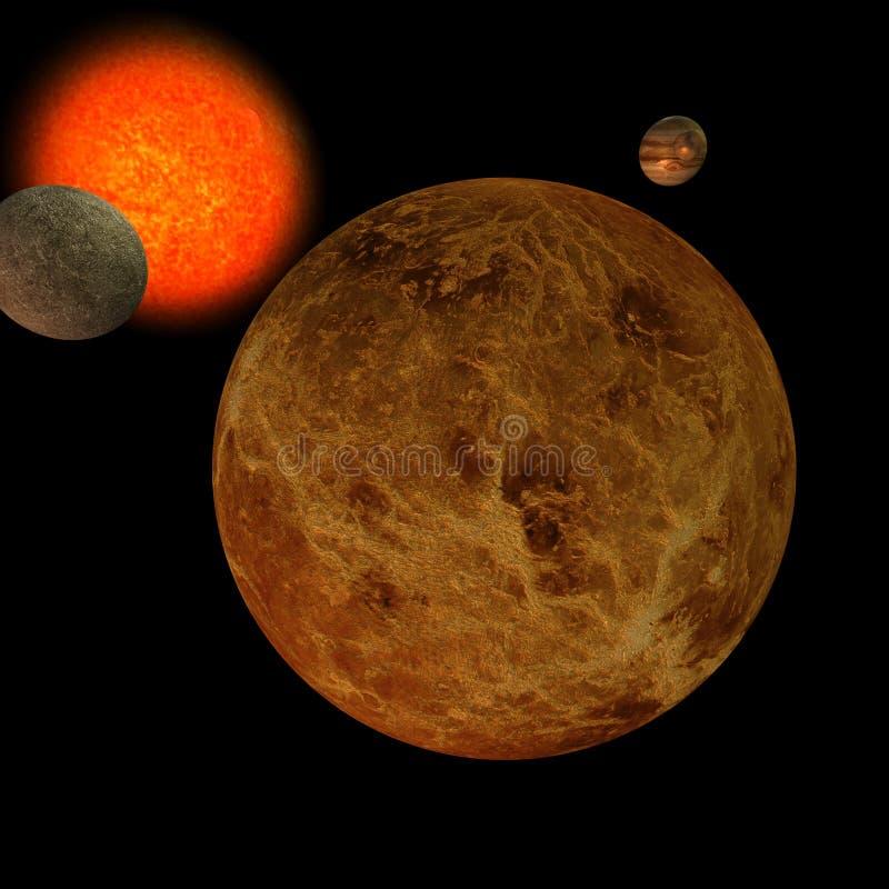 Sistema solare - Venus illustrazione vettoriale