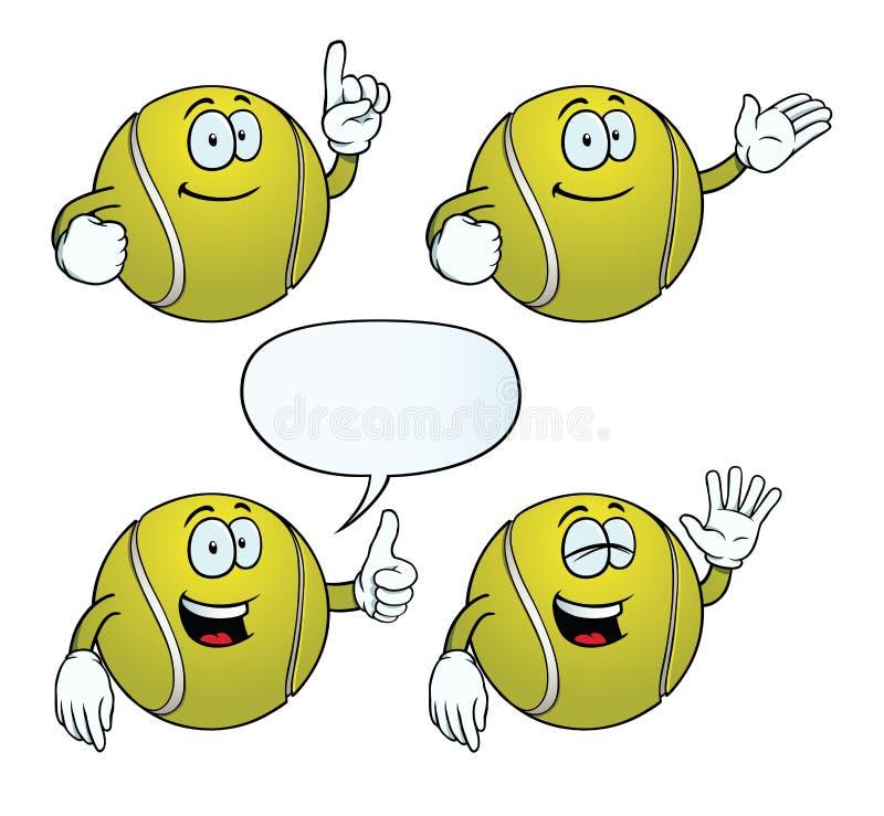 Sistema sonriente de la pelota de tenis libre illustration