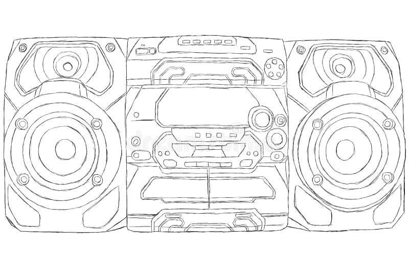 Sistema stereo compatto illustrazione di stock