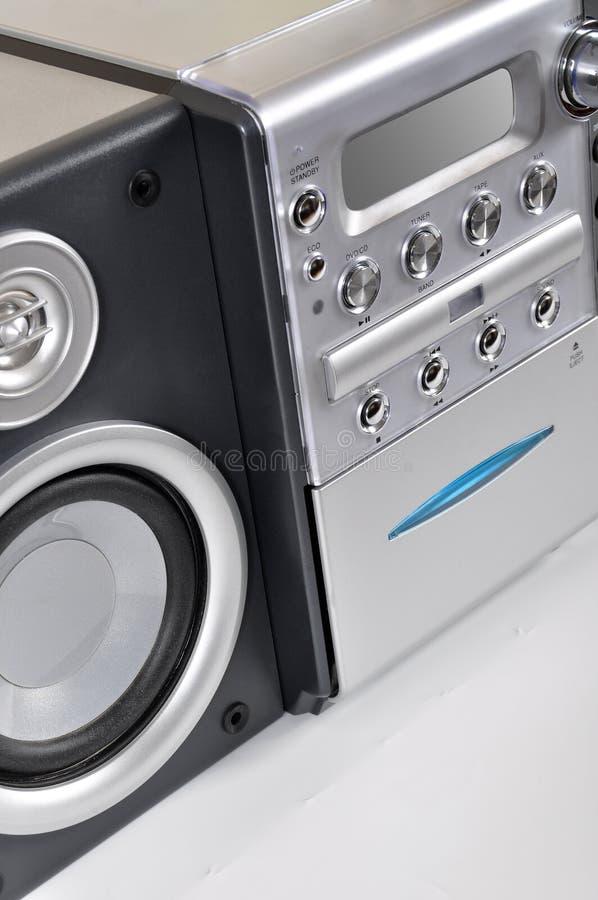 Sistema stereo compatto fotografie stock libere da diritti