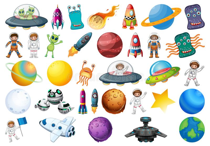 Sistema temático del espacio grande libre illustration