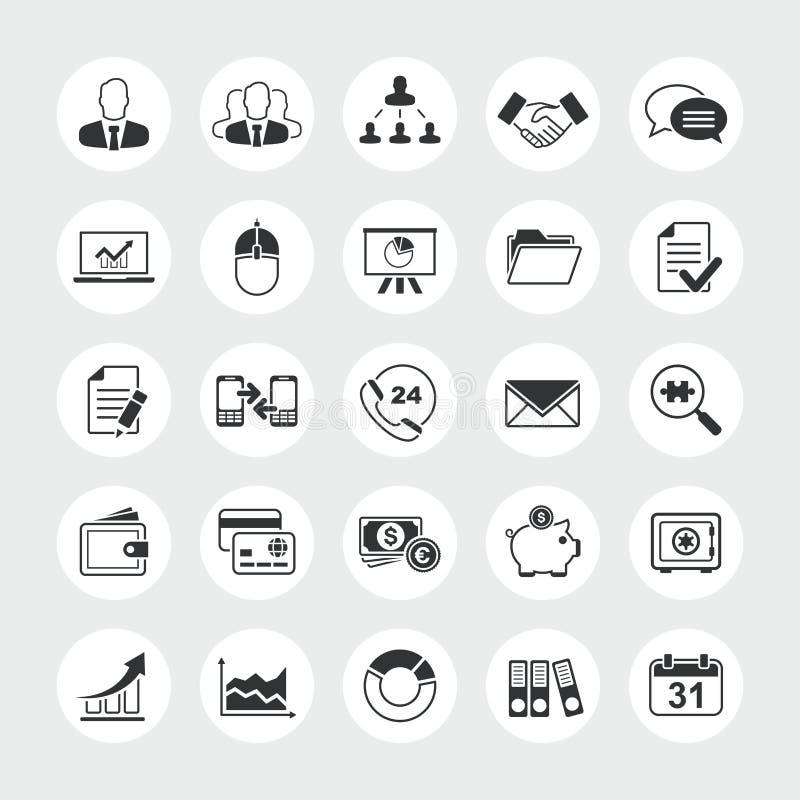 Sistema total del icono del vector del negocio imágenes de archivo libres de regalías