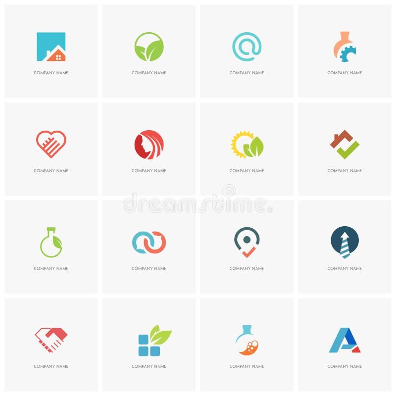 Sistema total del logotipo libre illustration