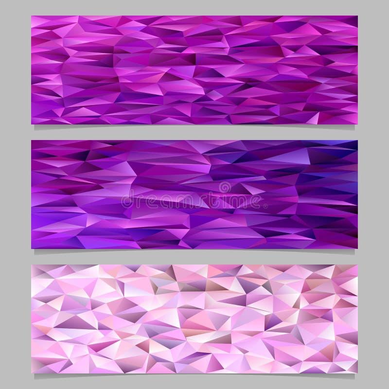Sistema triangular abstracto del fondo de la plantilla de la bandera del mosaico del modelo del polígono ilustración del vector