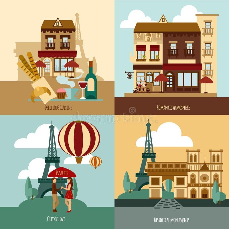 Sistema turístico de París libre illustration
