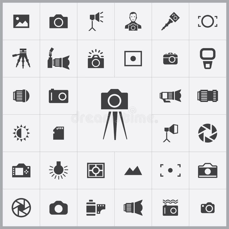 Sistema universal de los iconos de la fotografía libre illustration