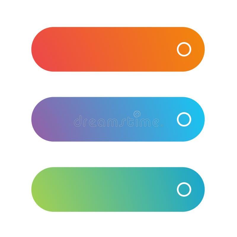 Sistema vacío del botón del web stock de ilustración