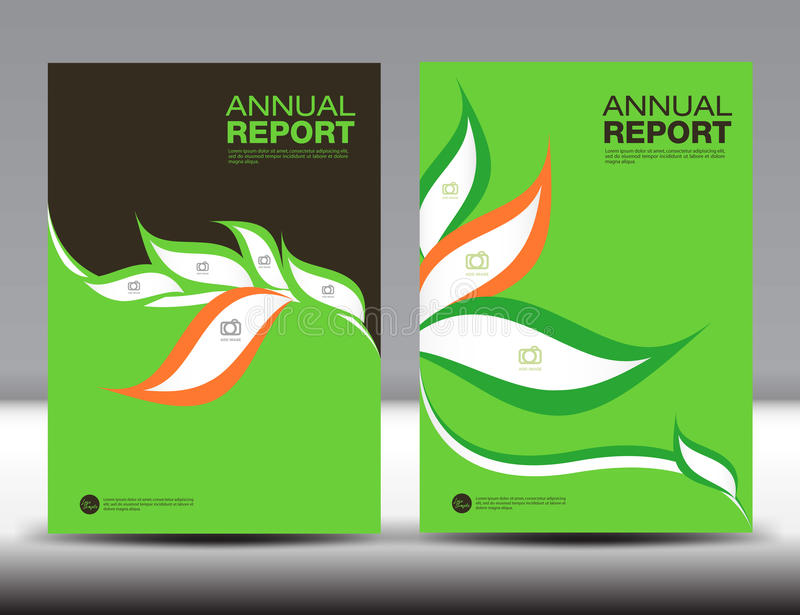 Sistema verde de la plantilla del informe anual de la cubierta, diseño de la cubierta, folleto stock de ilustración