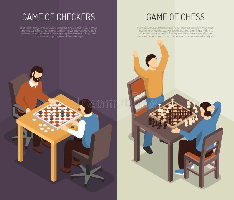 Sistema vertical de la bandera de los juegos de mesa stock de ilustración