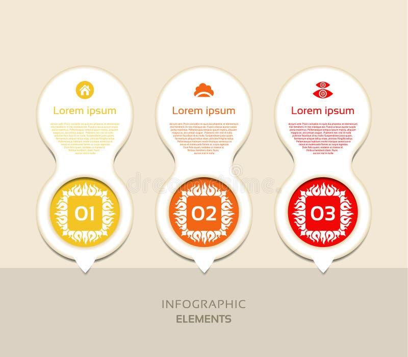 Sistema vertical moderno abstracto de la bandera de las opciones del infographics Ilustración del vector libre illustration