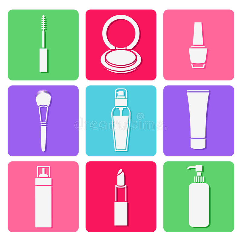 Sistemas cosméticos de la belleza libre illustration