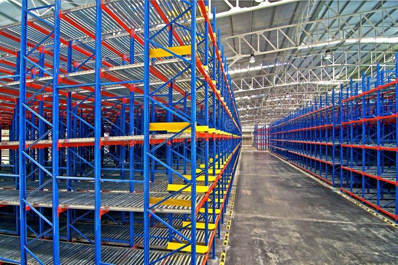 Sistemas de almacenamiento de Warehouse foto de archivo libre de regalías