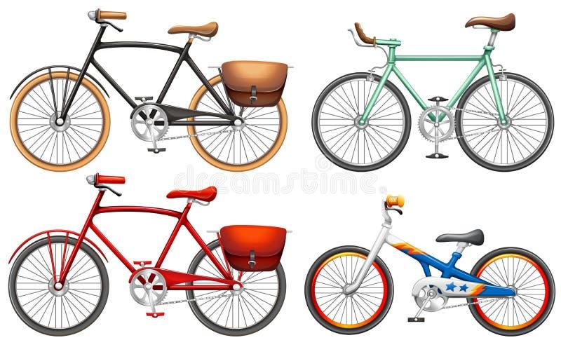 Sistemas de bicis del pedal stock de ilustración