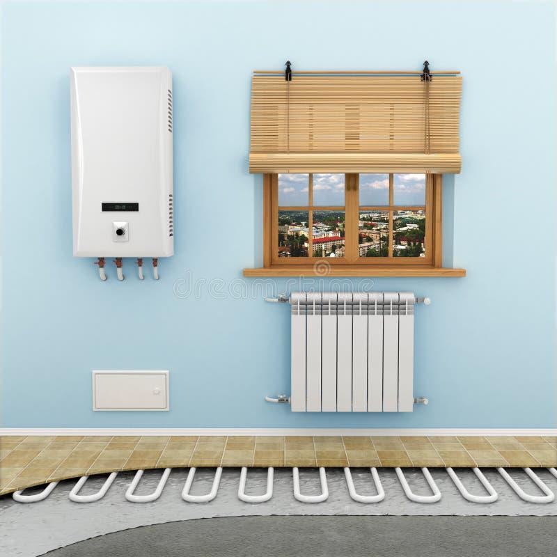 Sistemas de calefacción de piso imagenes de archivo