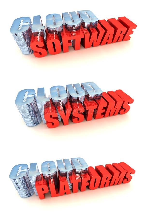 Sistemas de computação da nuvem ilustração stock