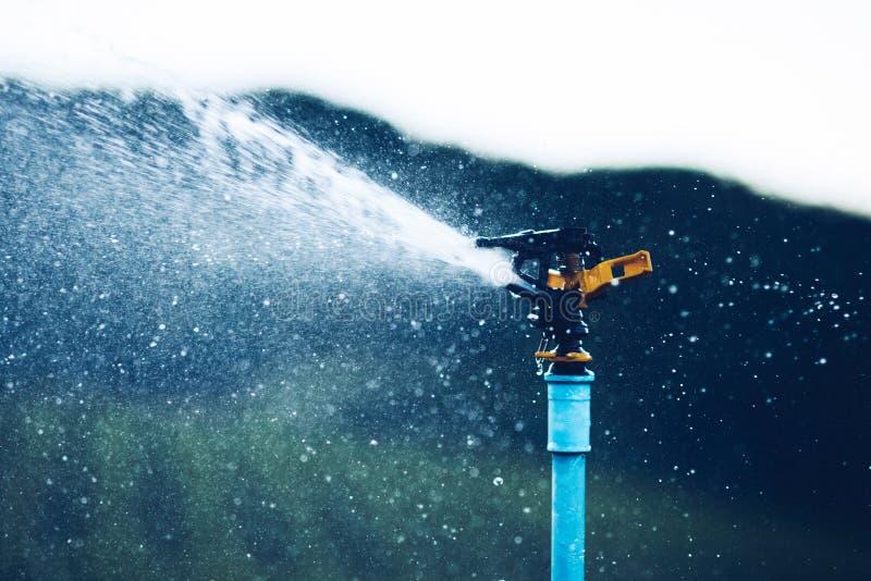 Sistemas de extinção de incêndios molhando da irrigação fotos de stock
